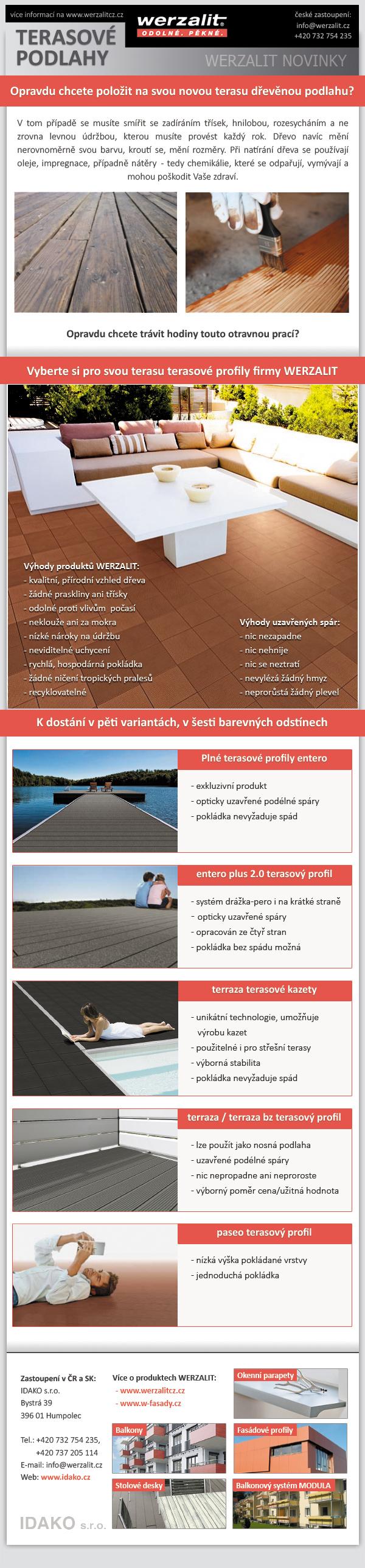 Terasové podlahy werzalit